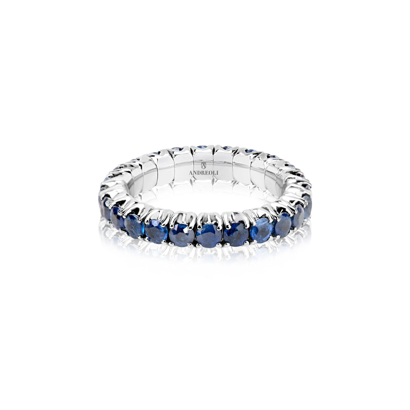 Blue Sapphire Stretchy Ring
