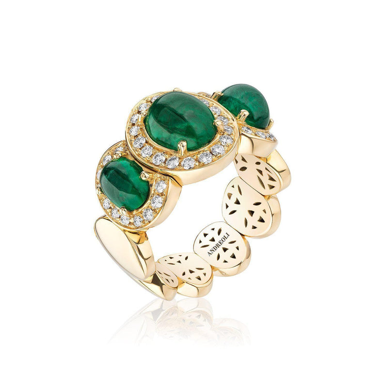 Emerald Stretchy Ring