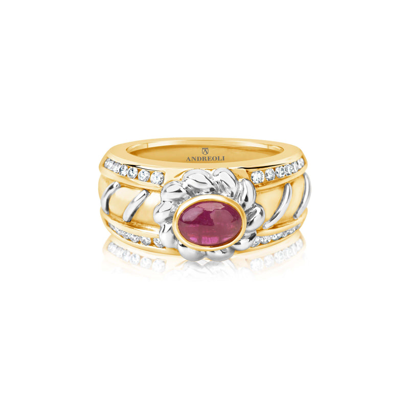 Ruby Ring Yellow Gold