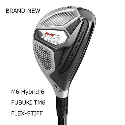 TaylorMade M6 Hybrid Brand New Authentic 28 Stiff FUBUKI TM6(2019)