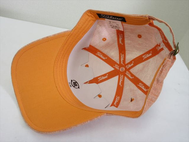 Titleist Cap Linen cap Orange Size Free (57-59cm)