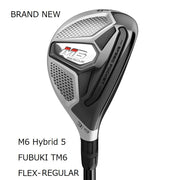 TaylorMade M6 Hybrid Brand New Authentic 25 Regular FUBUKI TM6(2019)
