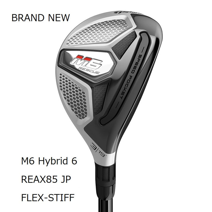 TaylorMade M6 Hybrid Brand New Authentic 28 Stiff RE-AX 85 STEEL