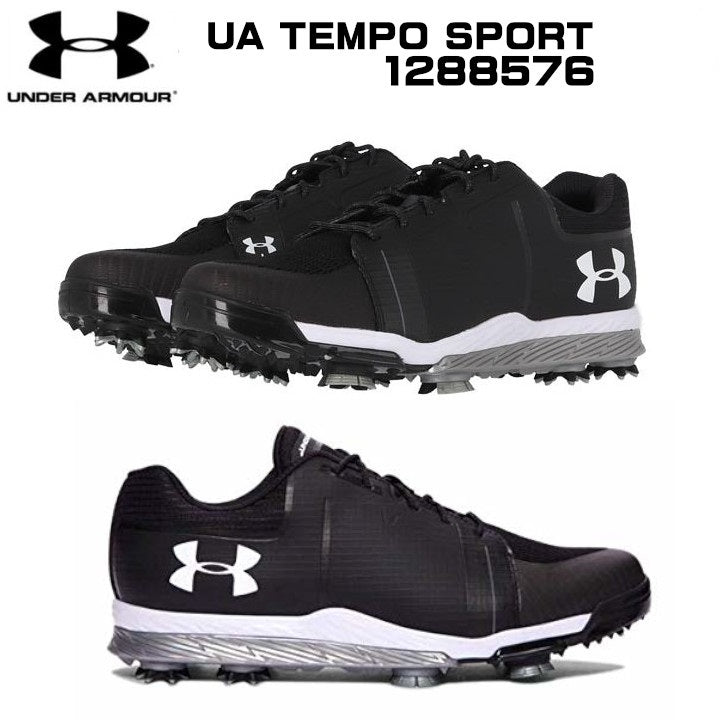 UNDER ARMOUR UA TEMPO SPORT #1288576 BLACK/GRAPHITE/WHITE 28.0【Made in China】