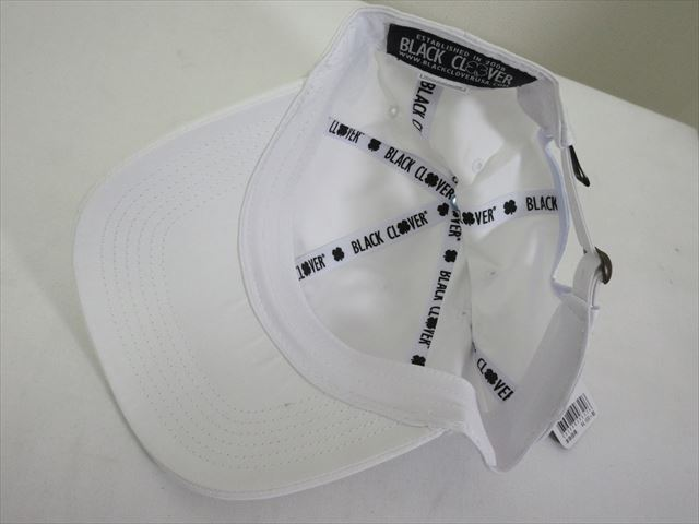 BlackClover Cap LUCKY FOR U #1 White/Black Size Free