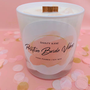 Dainty Kane | Positive Vibes | Wedding Candle | Wedding Gift