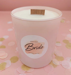 'Bride' Pink Wedding Candle