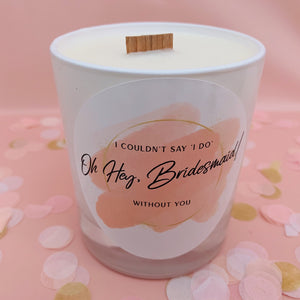 Bridesmaid Candle | Bridesmaid Proposal Candle | Bridesmaid Proposal Gift UK