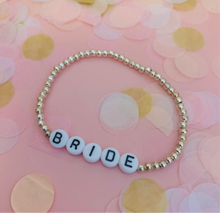 Load image into Gallery viewer, Bride Beaded Bracelet - Silver Tone