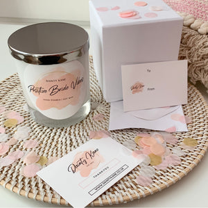 'Positive Bride Vibes' Wedding Candle