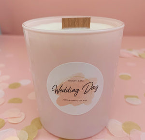 'Wedding Day' Pink Candle