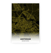 Load image into Gallery viewer, Amsterdam poster - Black Lantern - Printmycity
