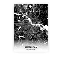 Load image into Gallery viewer, Amsterdam poster - Impact Black - Printmycity