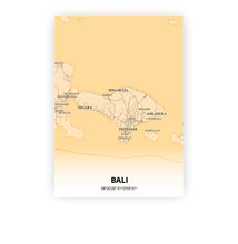 Load image into Gallery viewer, Bali poster - Antique - Printmycity