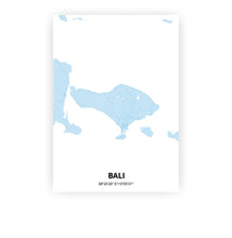 Load image into Gallery viewer, Bali poster - Baby Blue - Printmycity
