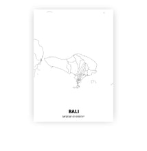 Load image into Gallery viewer, Bali poster - Minimal - Printmycity