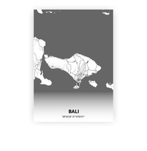 Load image into Gallery viewer, Bali poster - Mono - Printmycity
