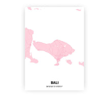 Load image into Gallery viewer, Bali poster - Pink Cove - Printmycity