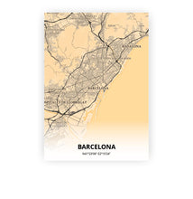 Load image into Gallery viewer, Barcelona poster - Antique - Printmycity