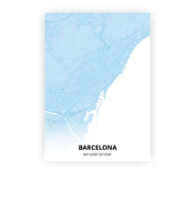 Load image into Gallery viewer, Barcelona poster - Baby Blue - Printmycity