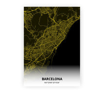 Load image into Gallery viewer, Barcelona poster - Black Lantern - Printmycity