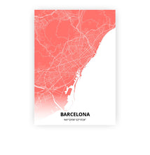 Load image into Gallery viewer, Barcelona poster - Coral Sunset - Printmycity