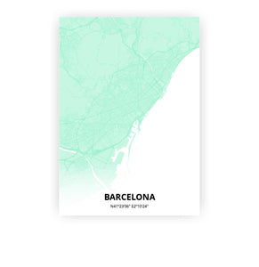 Barcelona poster - Empire Green - Printmycity