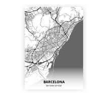 Load image into Gallery viewer, Barcelona poster - Mono - Printmycity