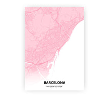 Load image into Gallery viewer, Barcelona poster - Pink Cove - Printmycity