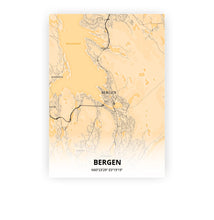 Load image into Gallery viewer, Bergen poster - Antique - Printmycity