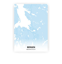 Load image into Gallery viewer, Bergen poster - Baby Blue - Printmycity