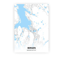 Load image into Gallery viewer, Bergen poster - Classic - Printmycity