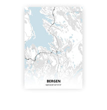 Load image into Gallery viewer, Bergen poster - Cold Horizon - Printmycity