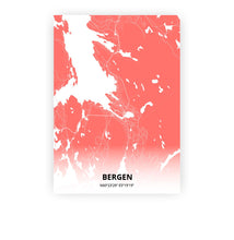 Load image into Gallery viewer, Bergen poster - Coral Sunset - Printmycity