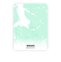 Load image into Gallery viewer, Bergen poster - Empire Green - Printmycity