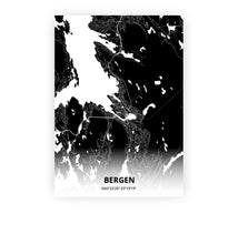 Load image into Gallery viewer, Bergen poster - Impact Black - Printmycity