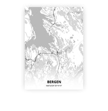 Load image into Gallery viewer, Bergen poster - Lo-fi - Printmycity