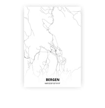 Load image into Gallery viewer, Bergen poster - Minimal - Printmycity