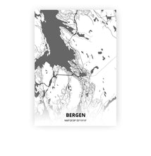 Load image into Gallery viewer, Bergen poster - Mono - Printmycity