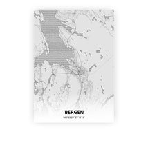 Load image into Gallery viewer, Bergen poster - Pencilorama - Printmycity
