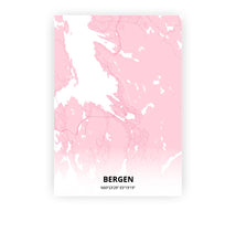 Load image into Gallery viewer, Bergen poster - Pink Cove - Printmycity