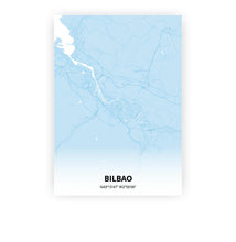 Load image into Gallery viewer, Bilbao poster - Baby Blue - Printmycity