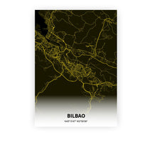Load image into Gallery viewer, Bilbao poster - Black Lantern - Printmycity