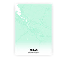 Load image into Gallery viewer, Bilbao poster - Empire Green - Printmycity