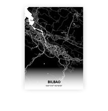 Load image into Gallery viewer, Bilbao poster - Impact Black - Printmycity