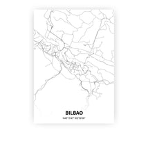 Load image into Gallery viewer, Bilbao poster - Minimal - Printmycity