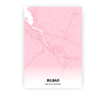 Load image into Gallery viewer, Bilbao poster - Pink Cove - Printmycity
