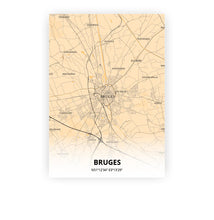 Load image into Gallery viewer, Bruges poster - Antique - Printmycity