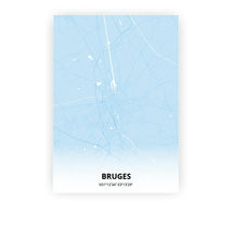 Load image into Gallery viewer, Bruges poster - Baby Blue - Printmycity