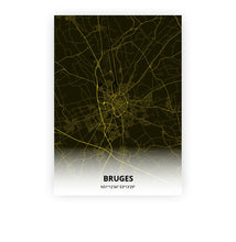 Load image into Gallery viewer, Bruges poster - Black Lantern - Printmycity